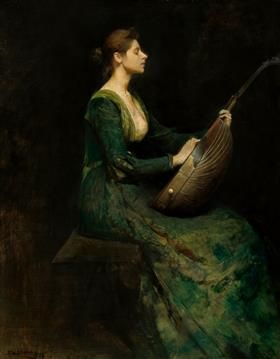 Lady with a Lute - Thomas Dewing