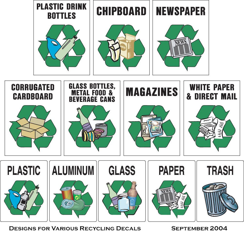 Free recycle clip art for Waste material art on paper