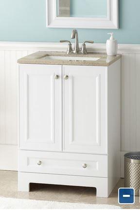 Bathroom Sink 25 X 19 style selections emberlin white integral single sink bathroom