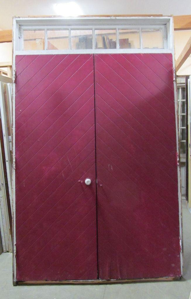 double doors w/transom MJT