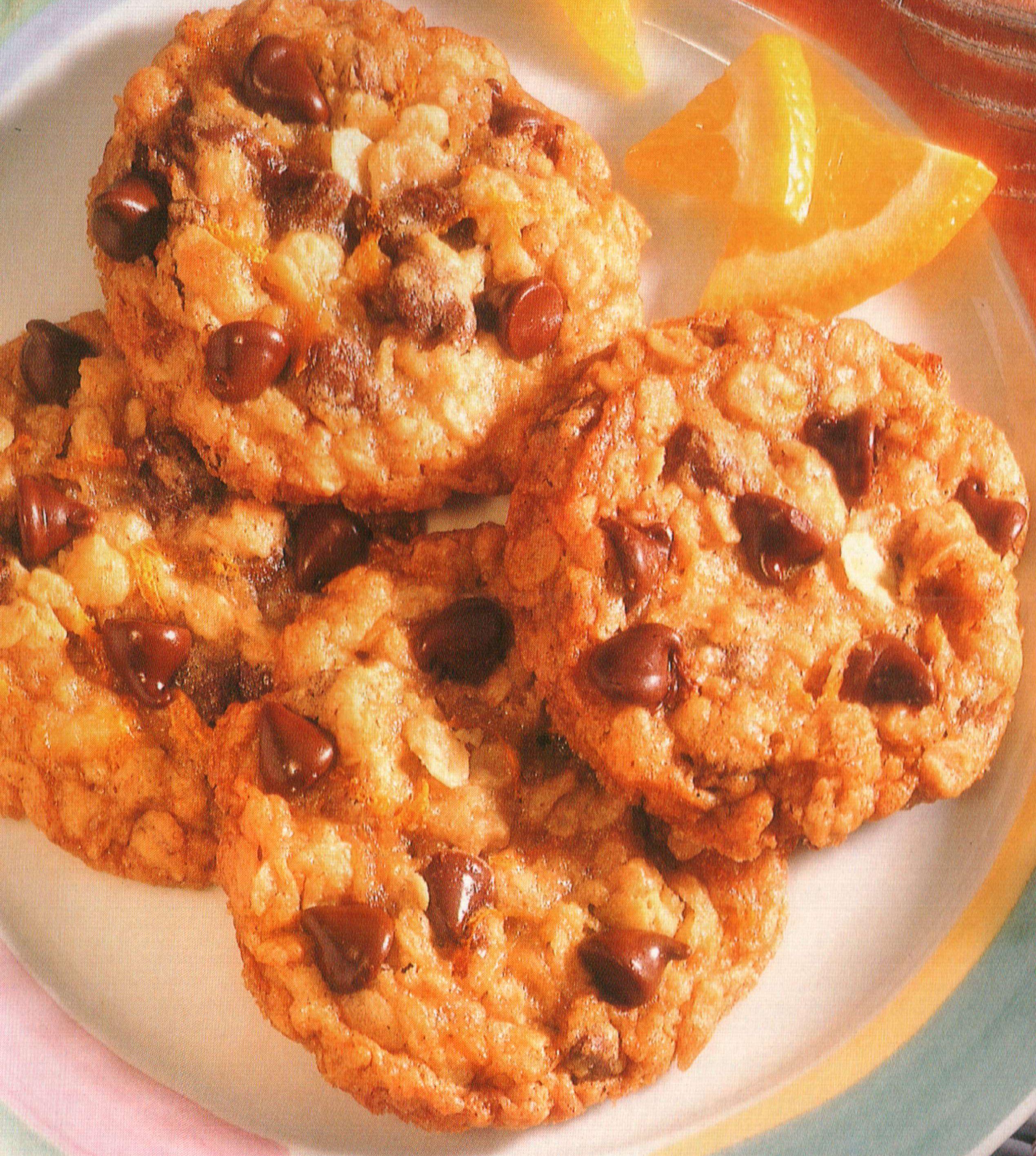 Orange Walnut Chip Cookies
