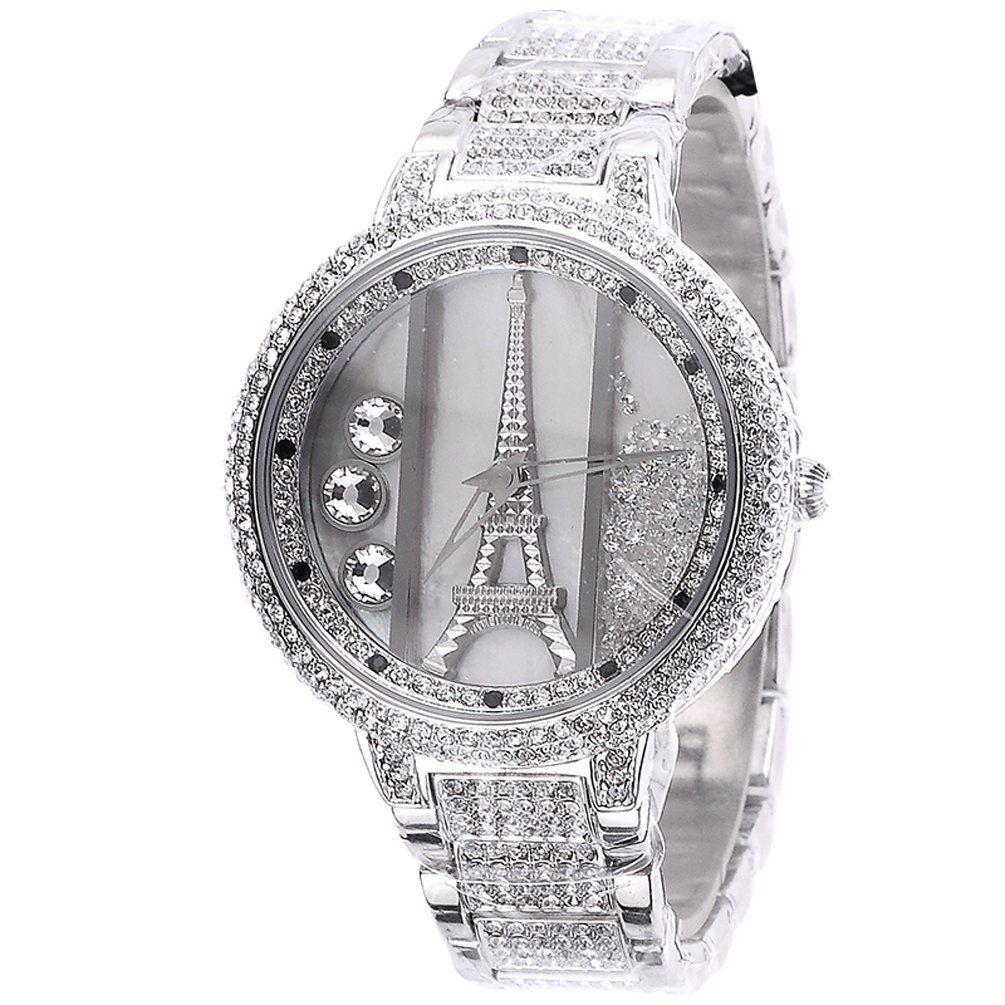 a6e012f13fa MELISSA Women's Luxury Diamond-studded Iron Tower Ladies Watch Color  Silver: Watches: Amazon.com$140.00