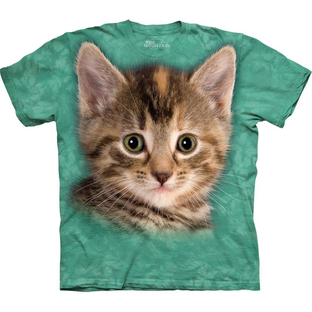 Striped Kitten Close Up Kids T Shirt Kittens Shirt Animal Tshirt Kitten Tees
