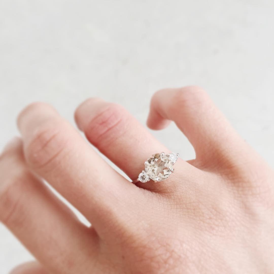 "Custom diamond and quartz engagement ring for @lana_lola ✨"" https ..."