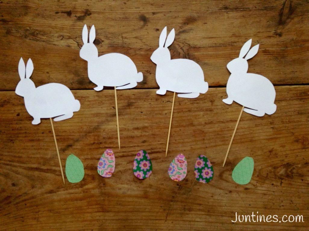 Conejos de papel paper rabbits manualidades de papel for Decoracion de pascua