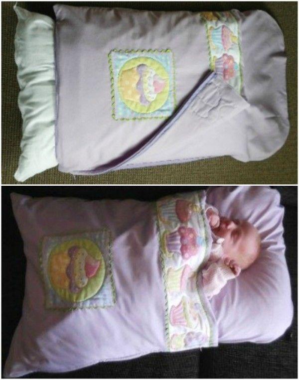DIY Baby Pillowcase Sleeping Bag