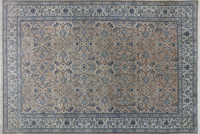 Persian Nain Hand Knotted Wool Silk Rug 8 X 12 Rugs Silk Rug Modern Carpet
