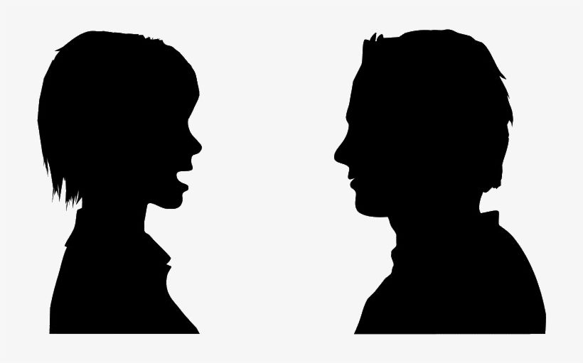 Person Talking Clipart Png Person Silhouette Silhouette People Person Icon