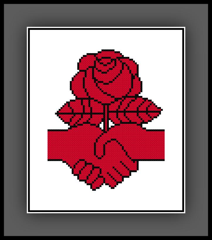 Free Democratic Socialism Rose Cross Stitch Pattern Bernie Sanders Rose Cross Stitch Pattern Cross Stitch Rose Geeky Cross Stitch