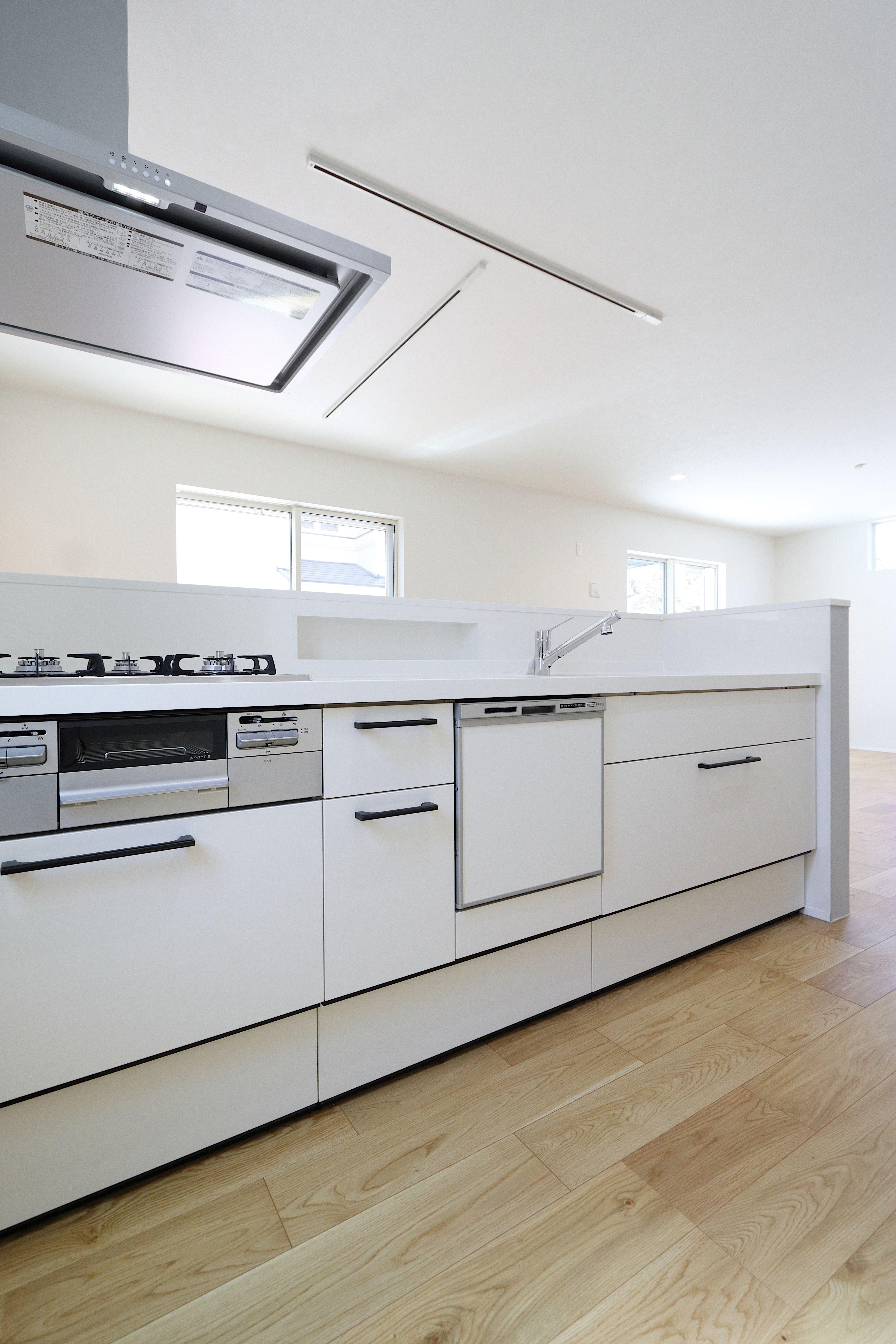 シンプルナチュラルなここちいい家2 東京で注文住宅を建てるジェネシスの施工写真集 キッチンデザイン ジェネシス アレスタ
