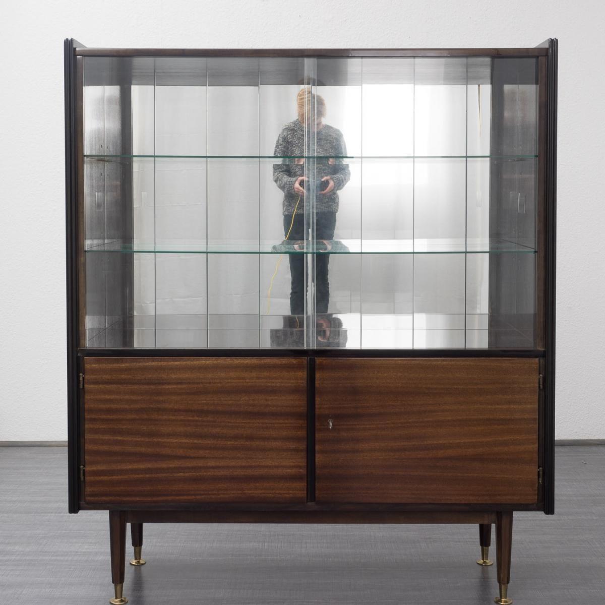Hochglanz Mahagoni Schrank Mit Glasturen 2 Schrank Mit Glasturen