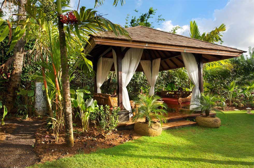 Tropical gazebo designs lanais bales kud ta garden for Lanai garden designs