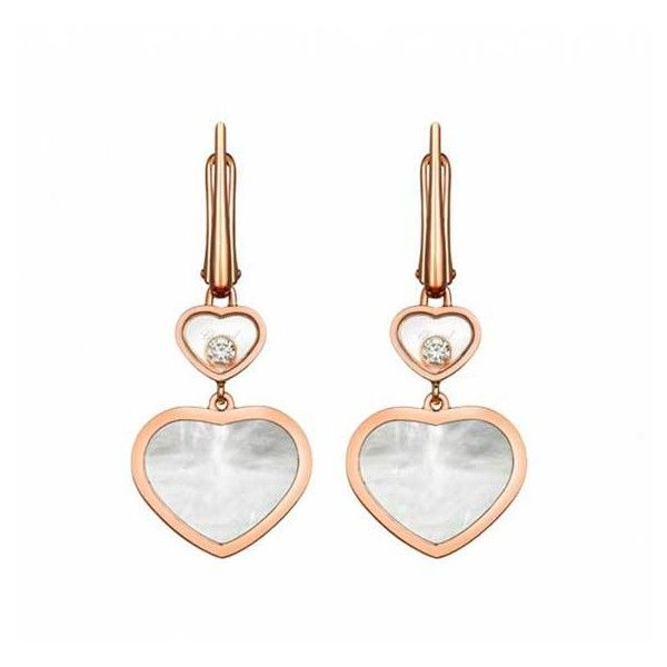 Chopard Hy Hearts Diamond Mother Of Pearl Drop Earrings 3 420 Liked On