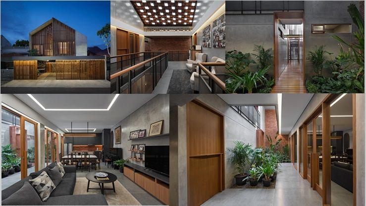 Kombinasi Bata Kayu Dan Beton Untuk Gaya Desain Rumah Industrial Minimalis Yang Super Menawan Home Fashion Rumah Desain Rumah