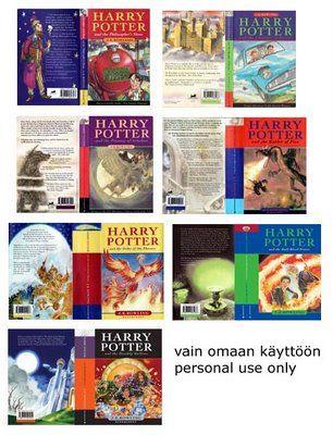 Elämää koossa 1:12: Potter faneille - Kun printtaat, niin kirjan korkeuden pitäisi olla suunnilleen 1,75cm.