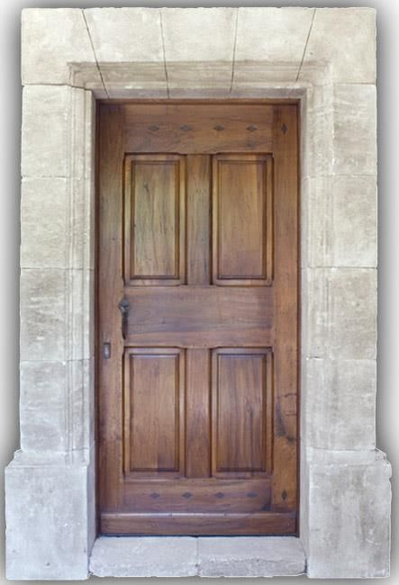 Porte DEntre Bois Massif En Noyer Style Louis Xiii  Doors