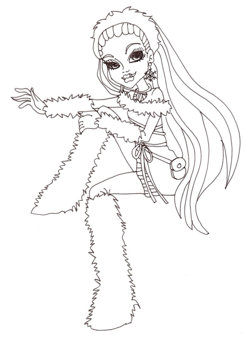 abbey bominable monster high coloring page monster high coloring