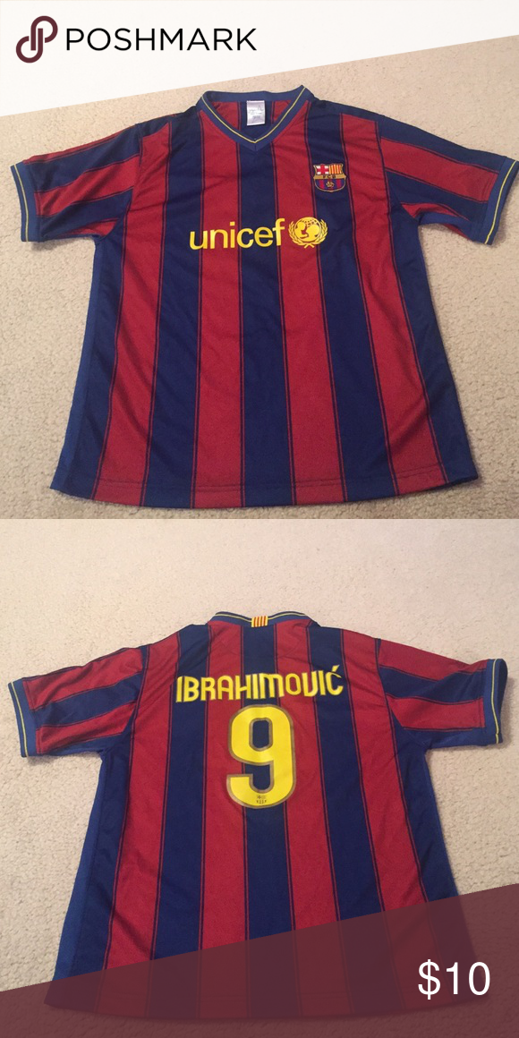 the latest 8c39f 9453f Ibrahimovic Barcelona jersey 2009-2010 Ibrahimovic Barcelona ...