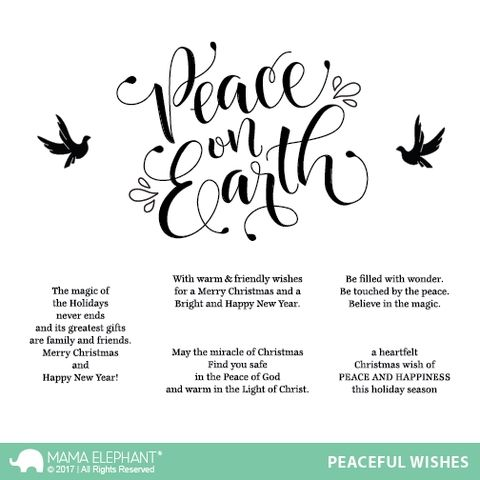 Mama Elephant Clear Stamps PEACEFUL WISHES Pinterest Mama