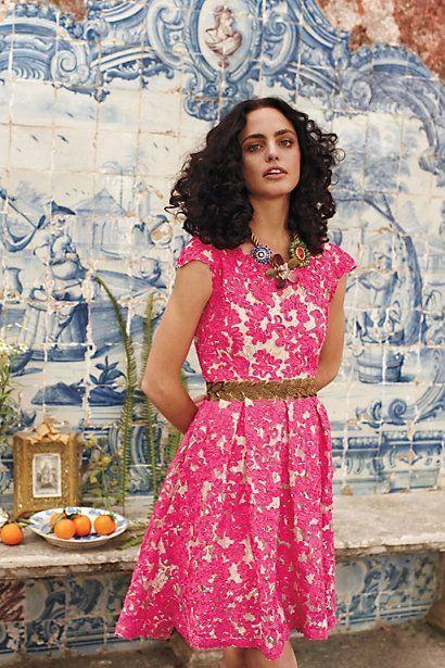 Yoana Baraschi Jardim Lace Dress #rosaspitzenkleider Yoana Baraschi Jardim Lace Dress #rosaspitzenkleider