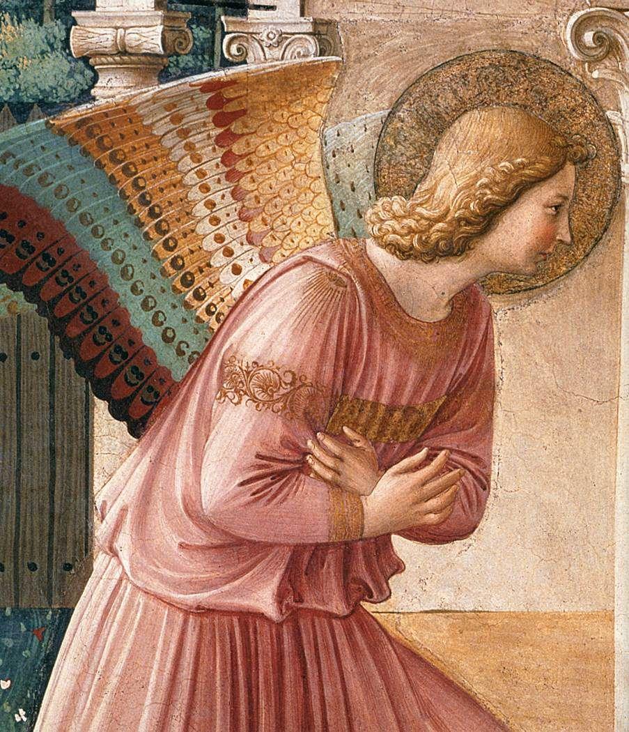 Fra Angelico - The Annunciation -Fresco - Convento di San Marco, Florence - detail (1442-43)