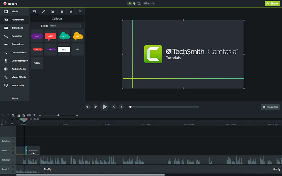 Get The Latest Version Of Camtasia With Drag And Drop Effects And Video Assets Buy Online Today Screen Recording Software Studio Video Editor