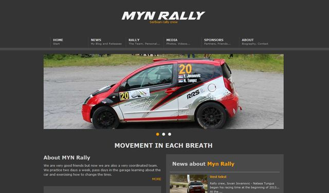 Web sajt mynrally.com je radjen po klijentovim zeljama i samim tim izasli smo u susret klijentu sto se tice logo design-a i web dizajna. Web sajt poseduje sve sto jedan sajt ovakvog tipa treba da ima.