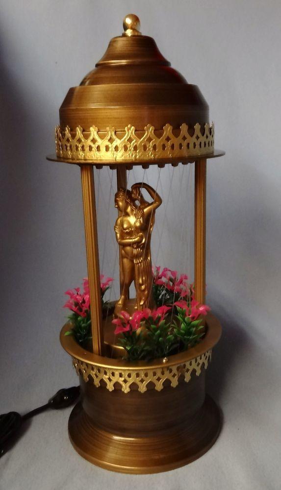 Retro mid century 1985 oil rain drip style motion table lamp w retro mid century 1985 oil rain drip style motion table lamp w golden goddess aloadofball Image collections