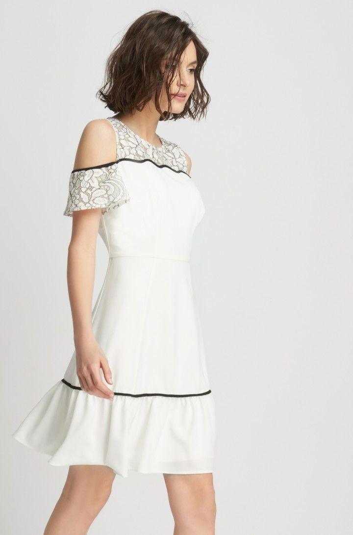 cf63cf084d35 Shoulder cut-out Krepp-Kleid   ORSAY     Einkaufsliste     Pinterest ...