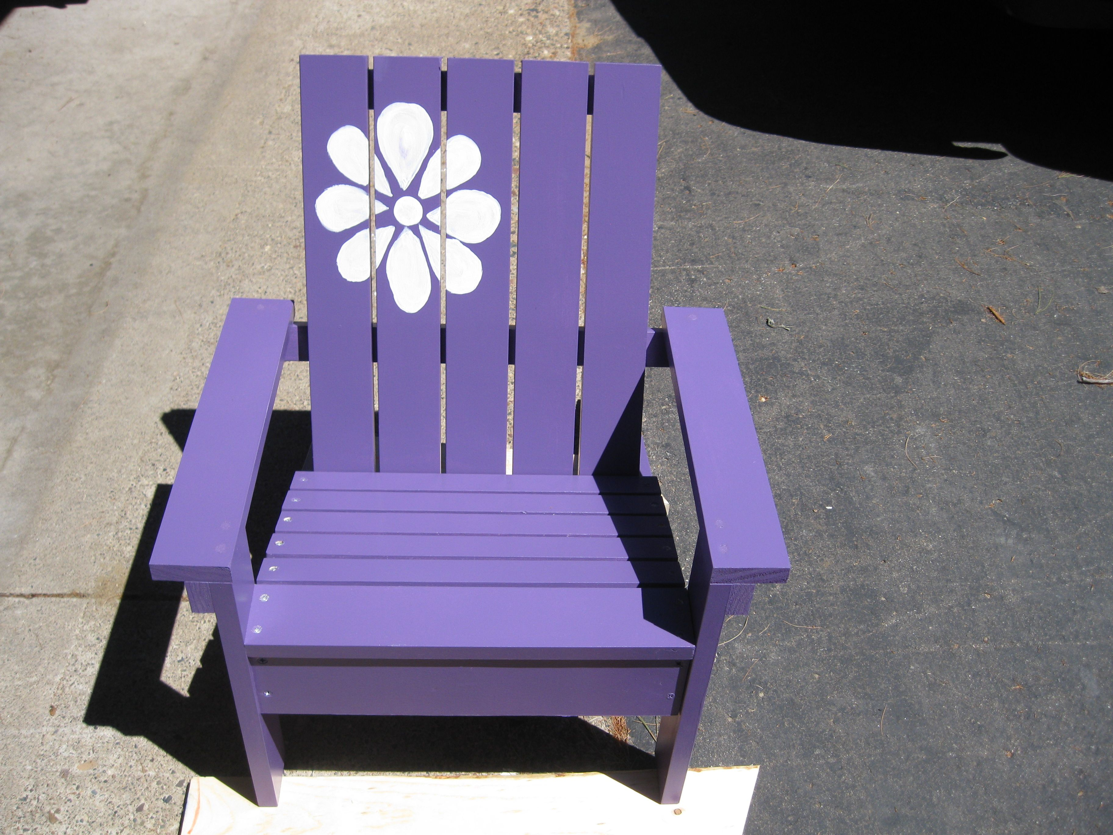 child's Adirondack chair. Plans from