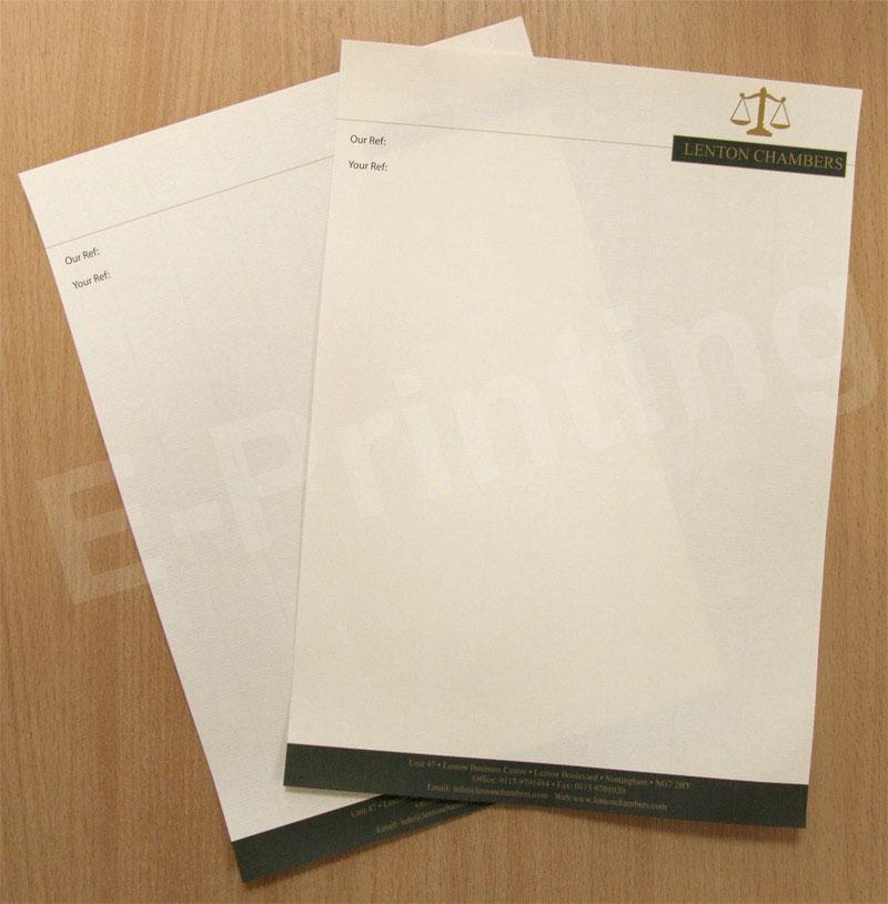 120gsm Conqueror Letterhead Letterhead Printing Letterhead Printed Cards