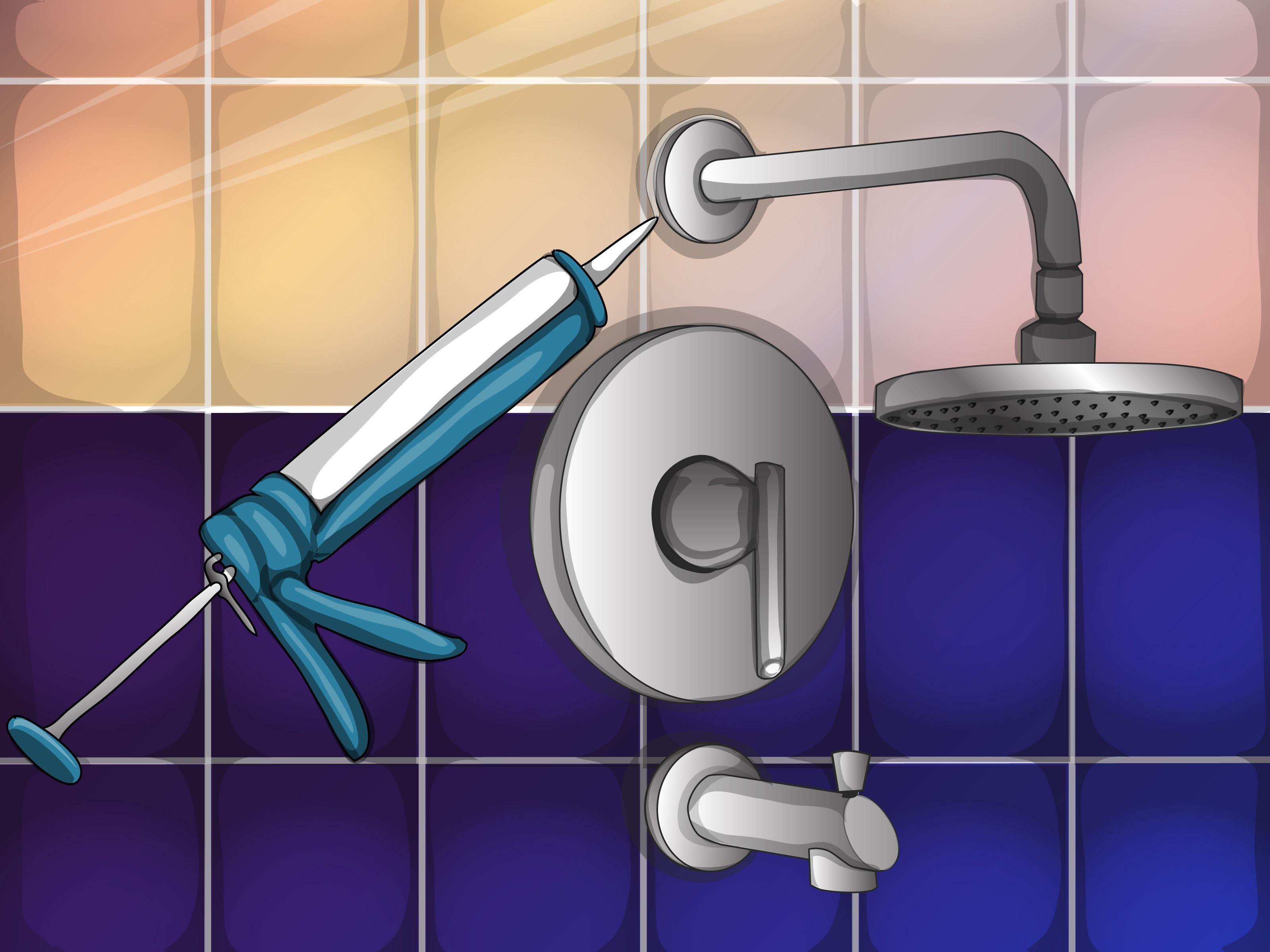 How To Quickly Repair Bathroom Shower Tiles Via Wikihow Com Bathroom Shower Tile Bathroom Shower Doors Bathroom Repair