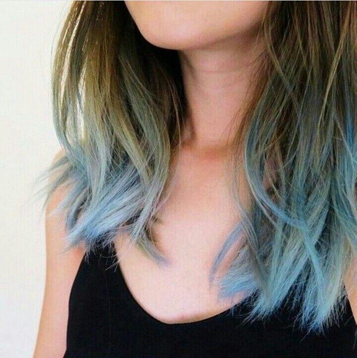 Light Blue Hair Love Them Xoxo Dipped Hair Hair Dye Tips Blue Ombre Hair