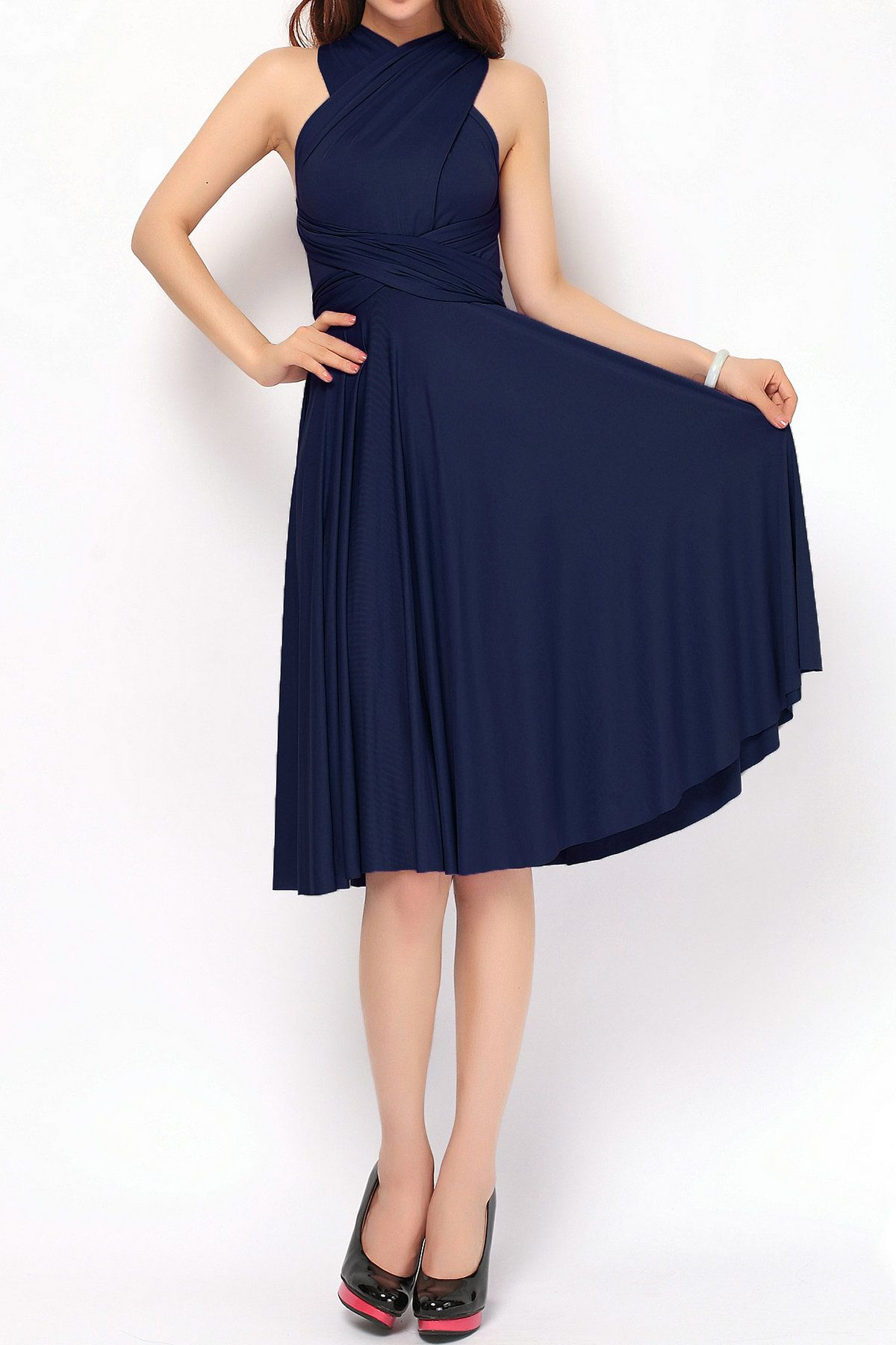 Navy Blue Short Bridesmaid Dresses Convertible Dress These Are