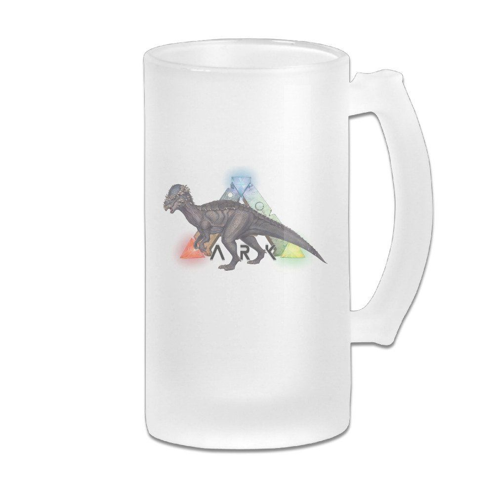 ARK Survival Evolved Game Dinosaur Great Extra Large Frosted Glass Beer  Mug, Personalized Beer Stein