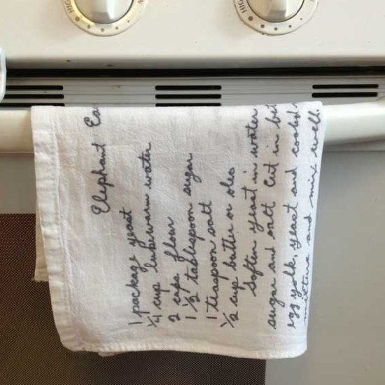 Make Your Own Wedding Gift: Create Your Own Personalized Tea Towels Using Your