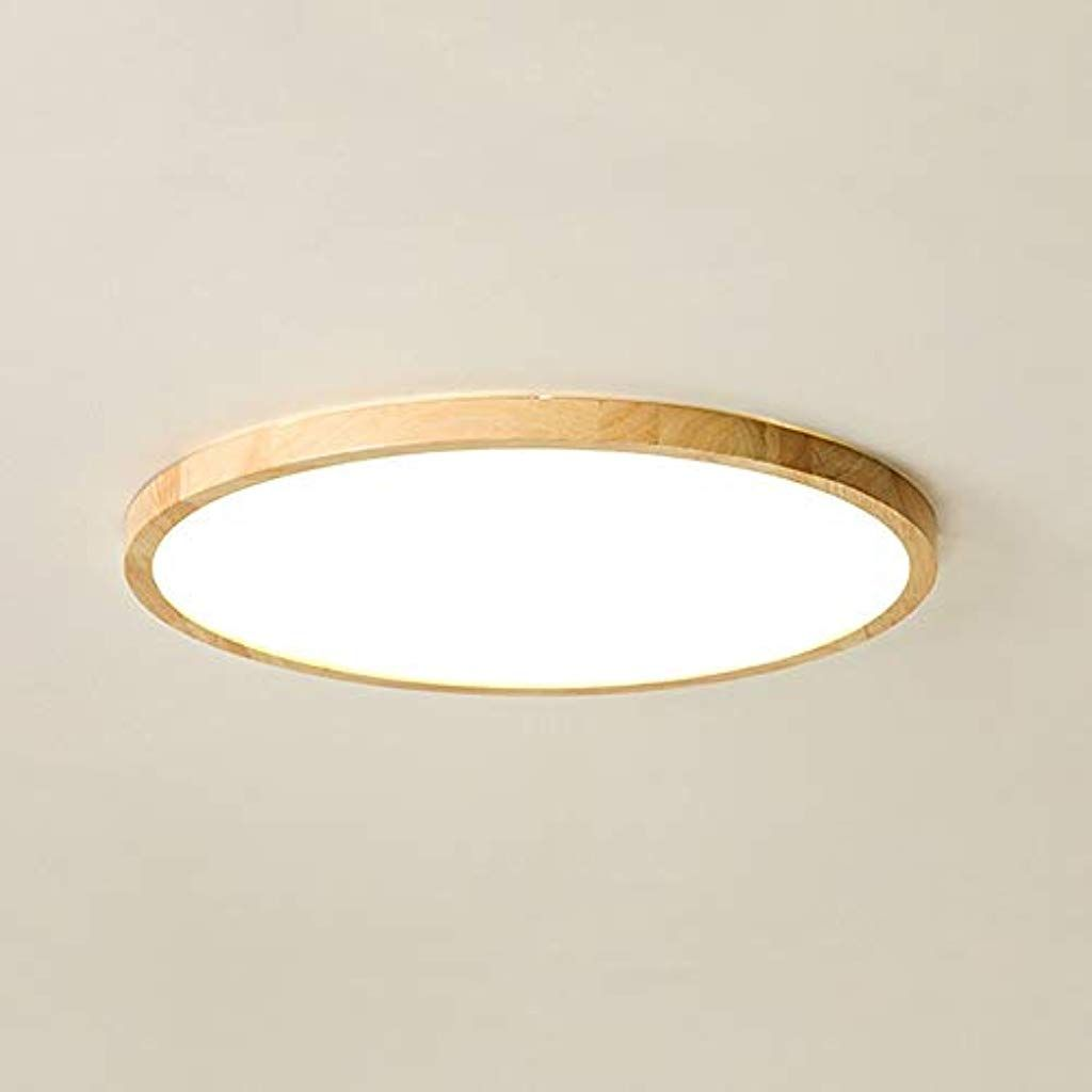 Runde Ultradunne Gummi Holz Lampe Korper Legierung Acrylglas Hohe