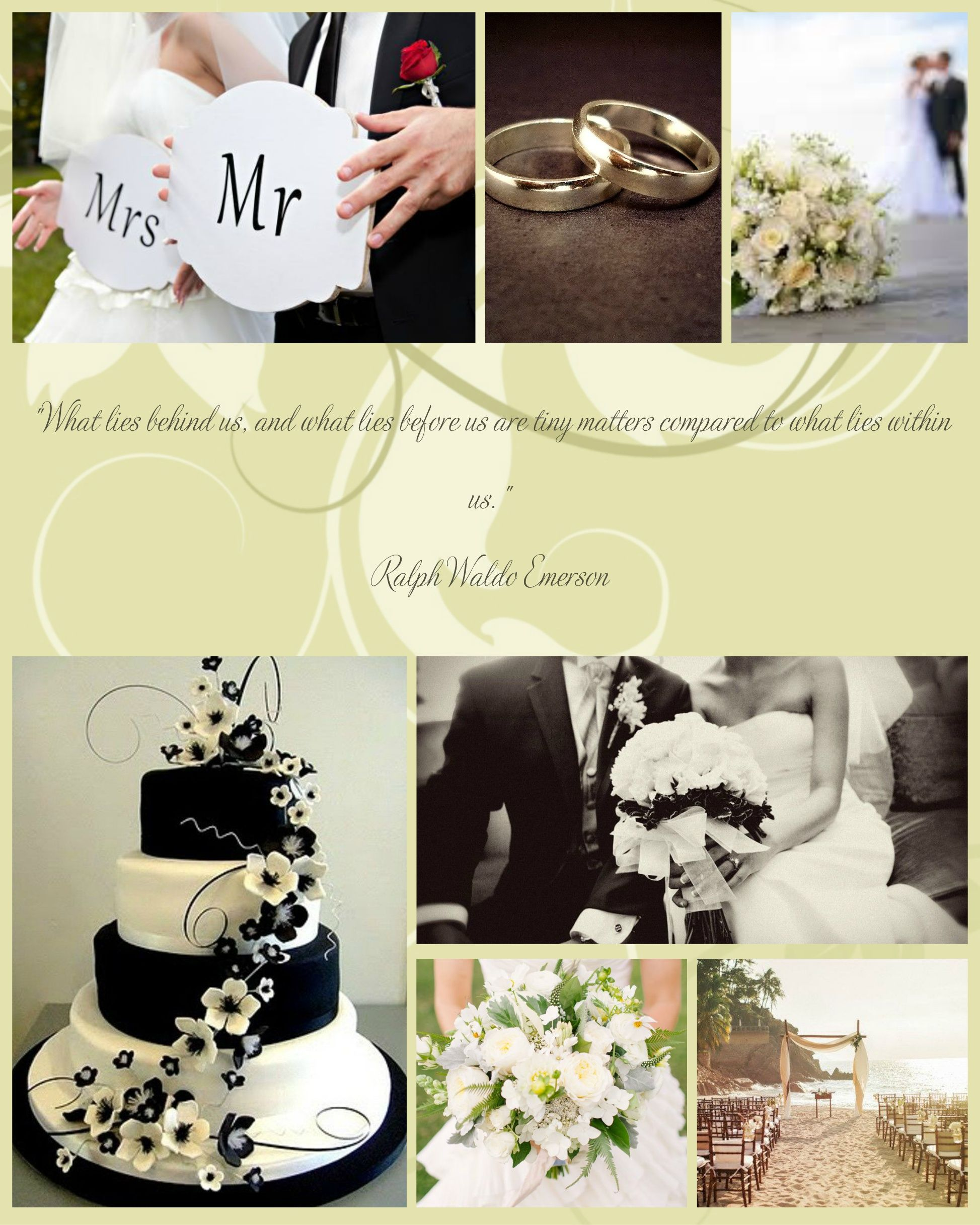 Sample Wedding Picture Collage. Others to choose from.