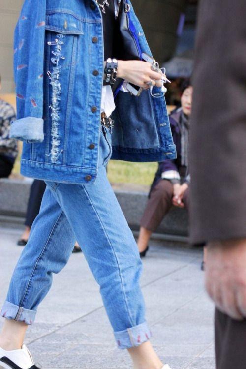 Fashion Tumblr   Street Wear, & Outfits — choiescloth: Blue Jacket
