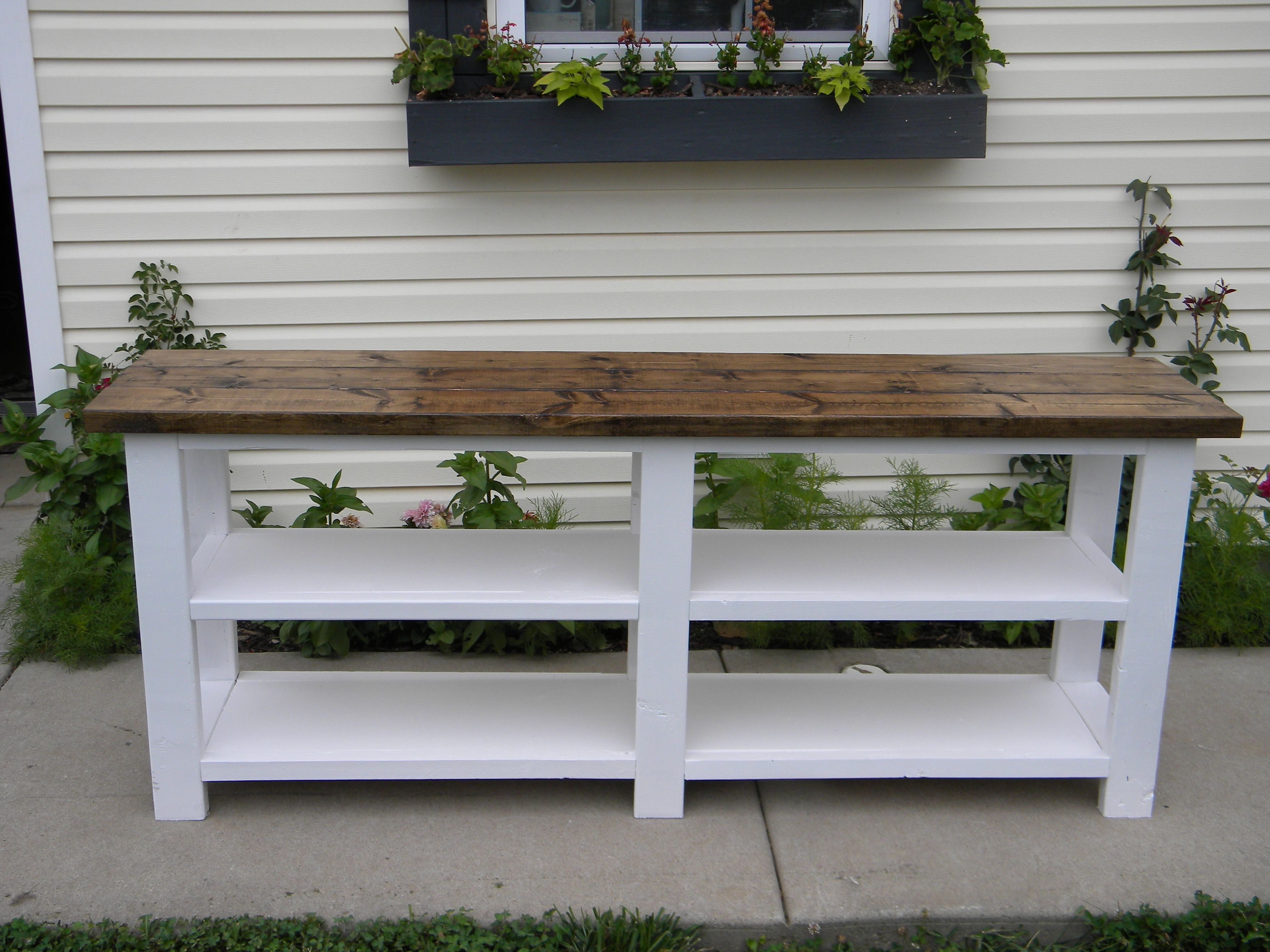 Do Yourself Home Improvement Project Rustic X Console Do It Yourself Home Projects From Ana