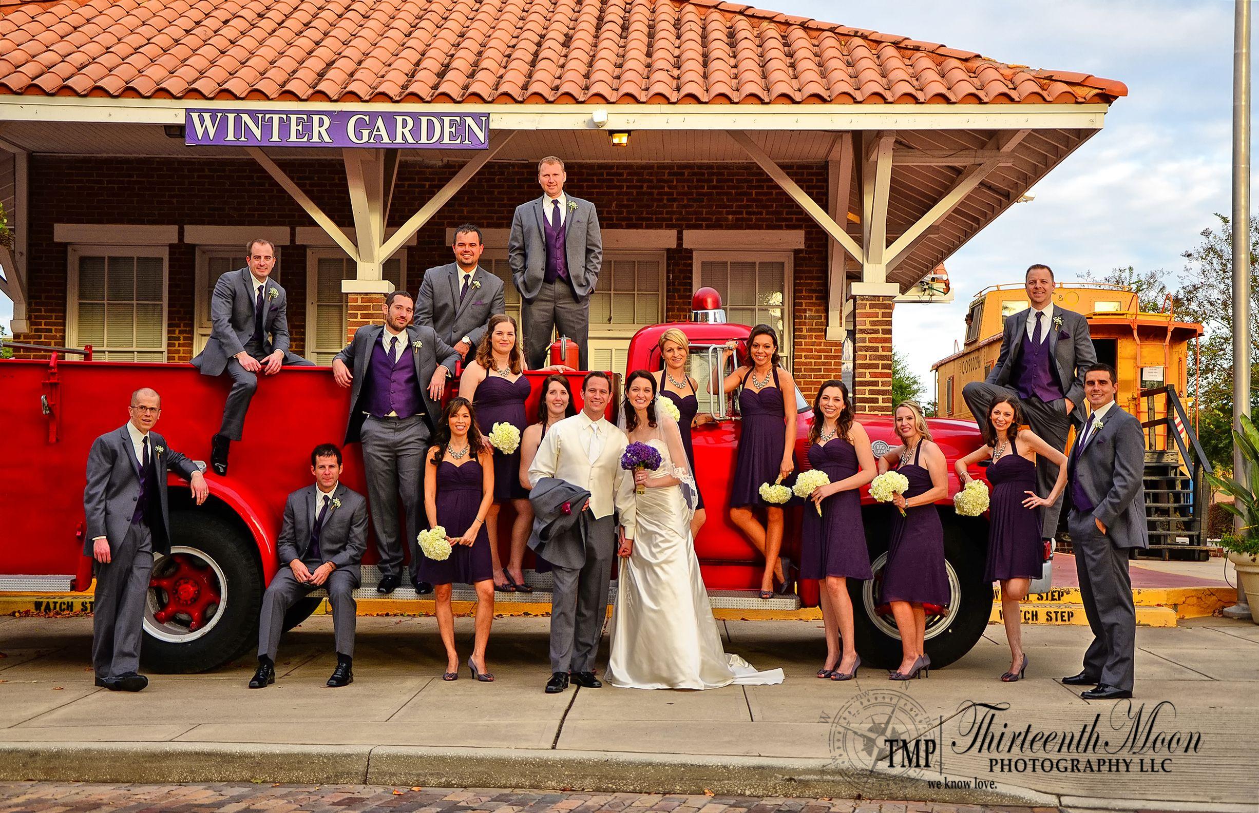bridal party in winter garden florida large bridal party fun