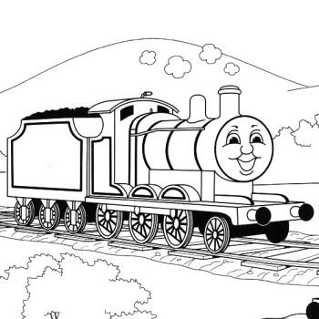 the train being exhausted coloring pages thomas and friends