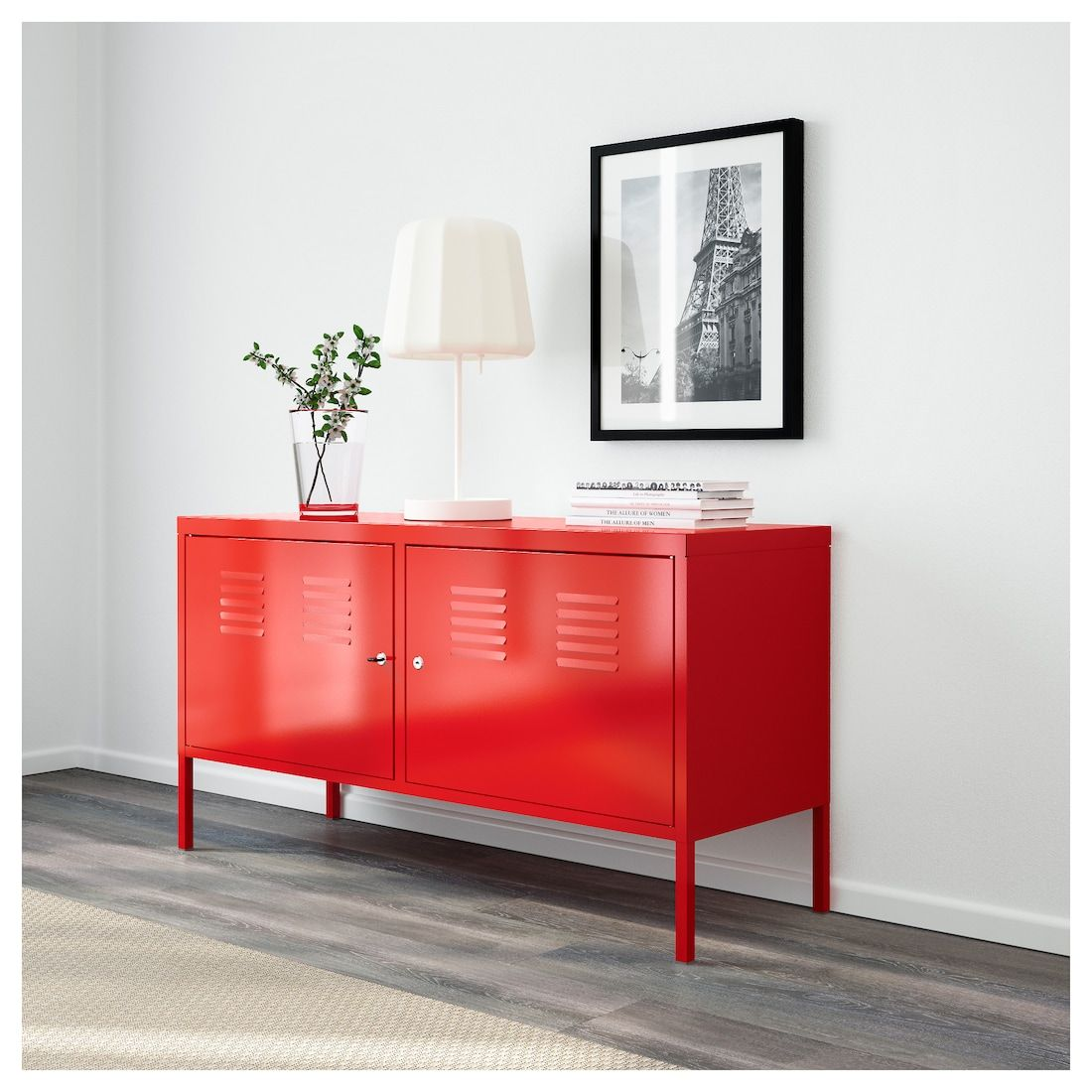 Ikea Ps Cabinet Red 46 7 8x24 3 4 Ikea Armoire Ikea Ps Armoire Metallique Meuble Metal Ikea