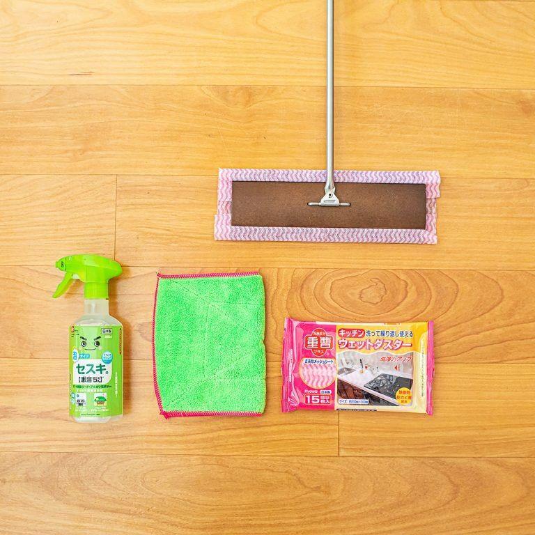 フローリング掃除のツボ キッチンの油汚れや洗面所の髪の毛 汚れの気