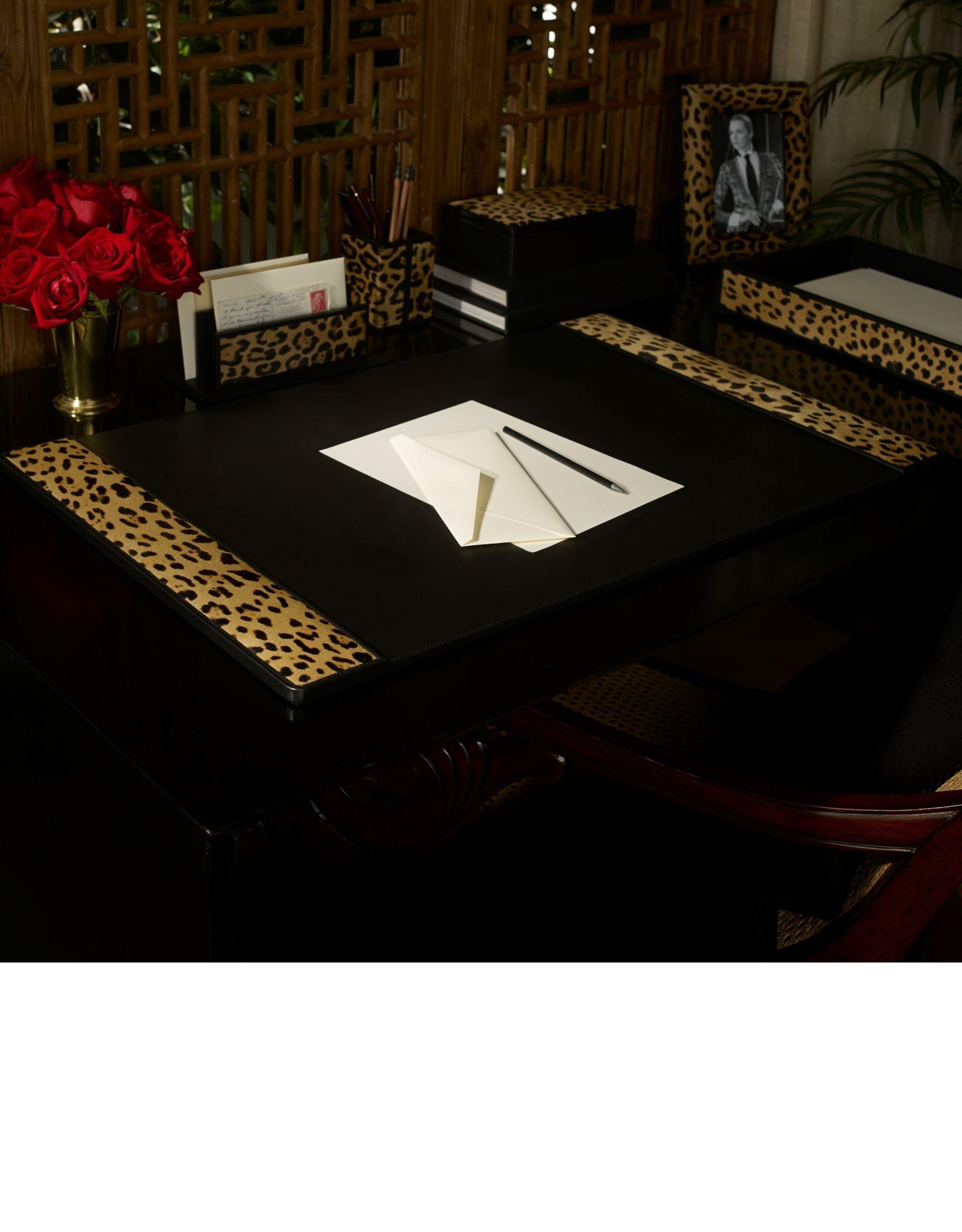 ralph lauren luxury desk accessories animal print decor. Black Bedroom Furniture Sets. Home Design Ideas