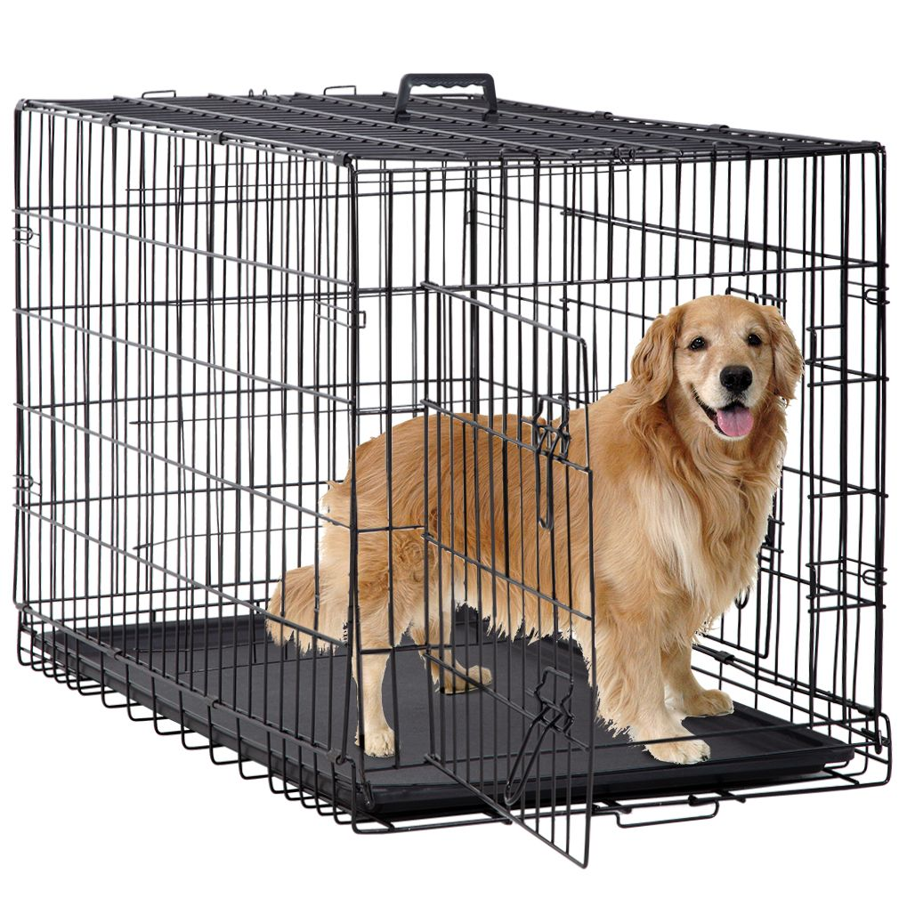 Pets In 2020 With Images Folding Dog Crate Heavy Duty Dog Crate Dog Crate