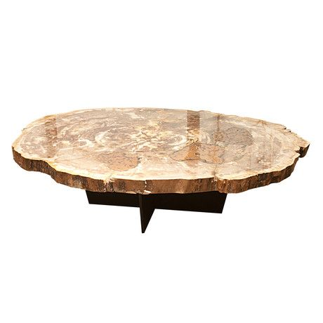 Accupunto Handcrafted Wood Design Tree Coffee Tablewood