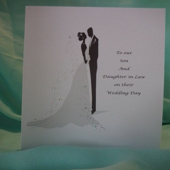 Wedding Day Card For Son And Daughter In Law Personalised Cards Thank You