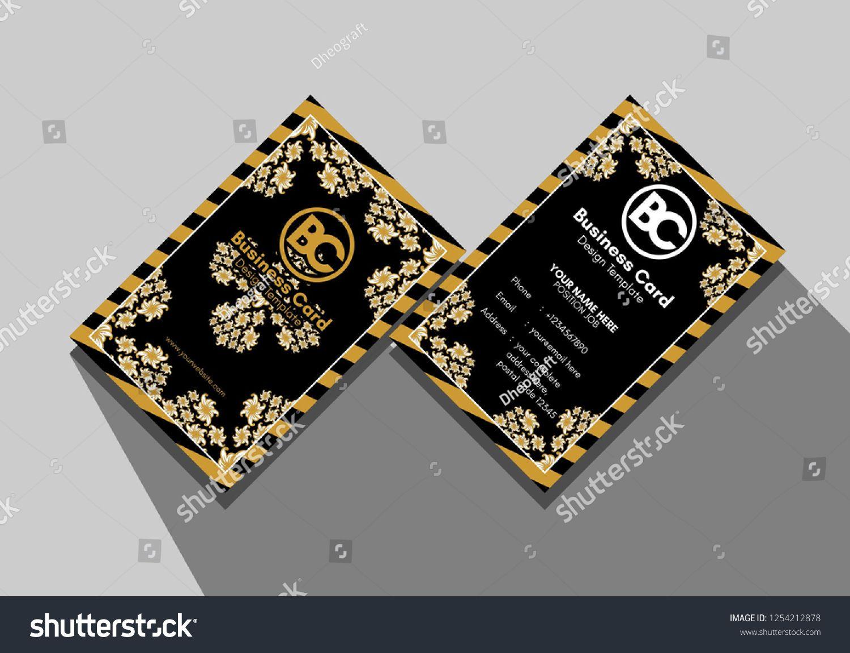 Cross Batik Business Card Template Eps Business Card Design Cards Business Card Template
