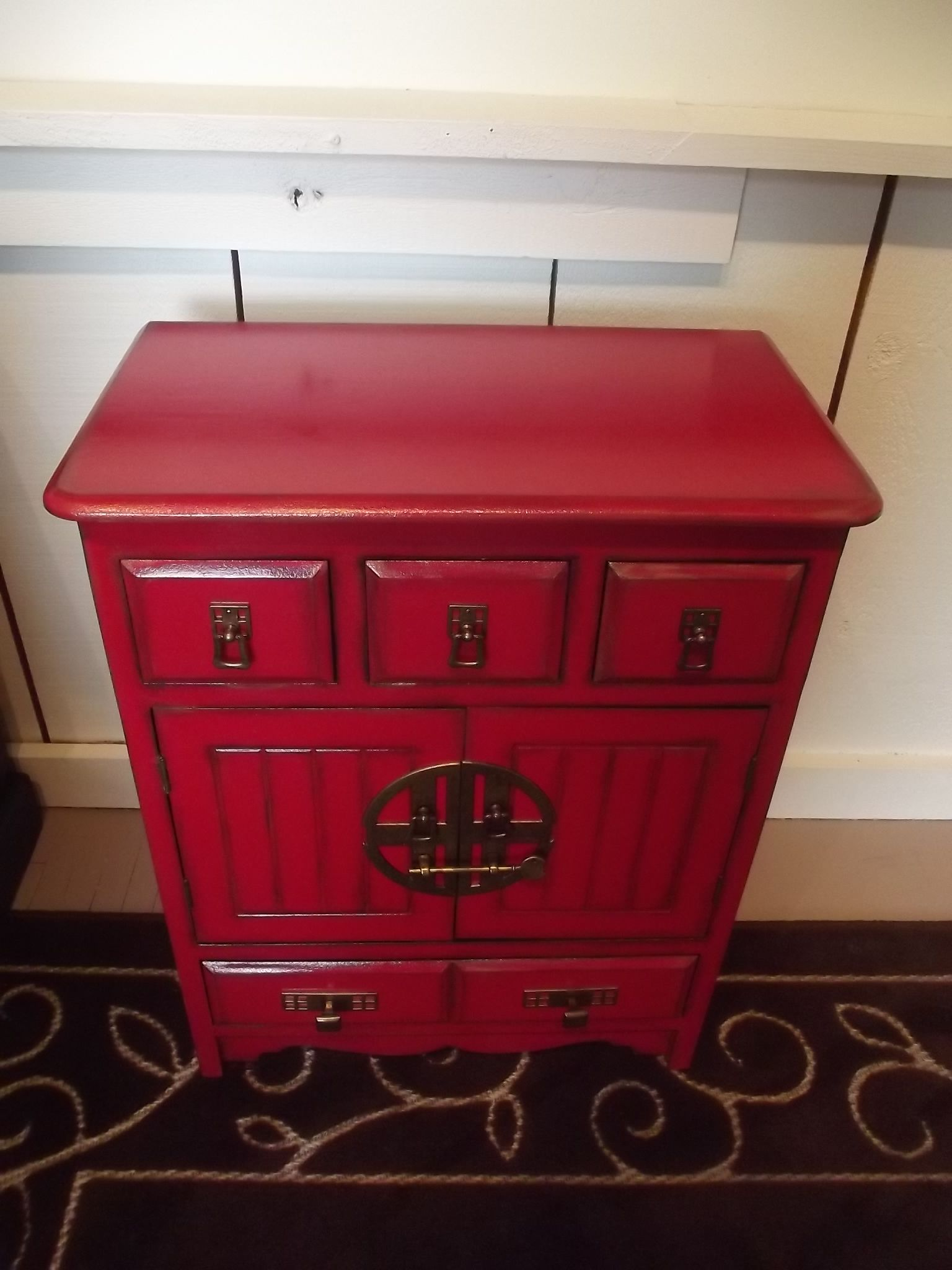 Attrayant The Asian Hardware Really Finished It Nicely And The Original Red Is Now  Restored!